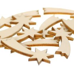 Holz Sternschnuppen - 1-60cm Streudeko Basteln Deko Tischdeko – Bild 2