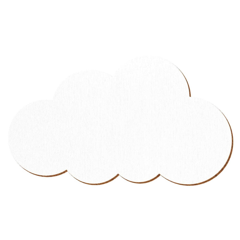 Holz Wolken Weiß 1 10cm Streudeko Basteln Deko Tischdeko
