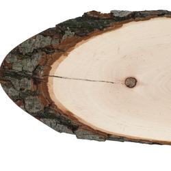 Riss Holzscheibe Esche oval - Rindenscheibe Baumscheibe geschliffen Holzbrett – Bild 4
