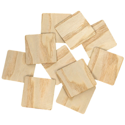 Echt Holz Furnier Quadrate hell - Holzscheiben - 1-10cm Streudeko Basteln Deko – Bild 1