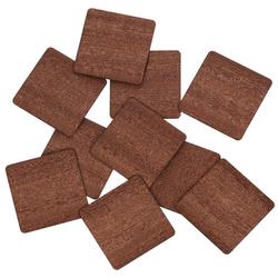 Echt Holz Furnier Quadrate dunkel - Holzscheiben - 1-10cm Streudeko Basteln Deko – Bild 1