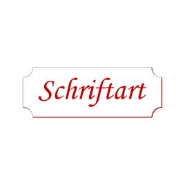 Retro Klingelschild Namensschild Türschild selbstklebend 50-70mm - Größe/Farbe/Schrift