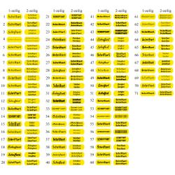 Retro Klingelschild Namensschild Türschild selbstklebend 50-70mm - Größe/Farbe/Schrift – Bild 10