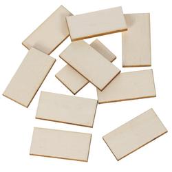 Holz Rechtecke Holzscheiben - 2x1cm - 60x30cm Streudeko Basteln Deko Tischdeko – Bild 1