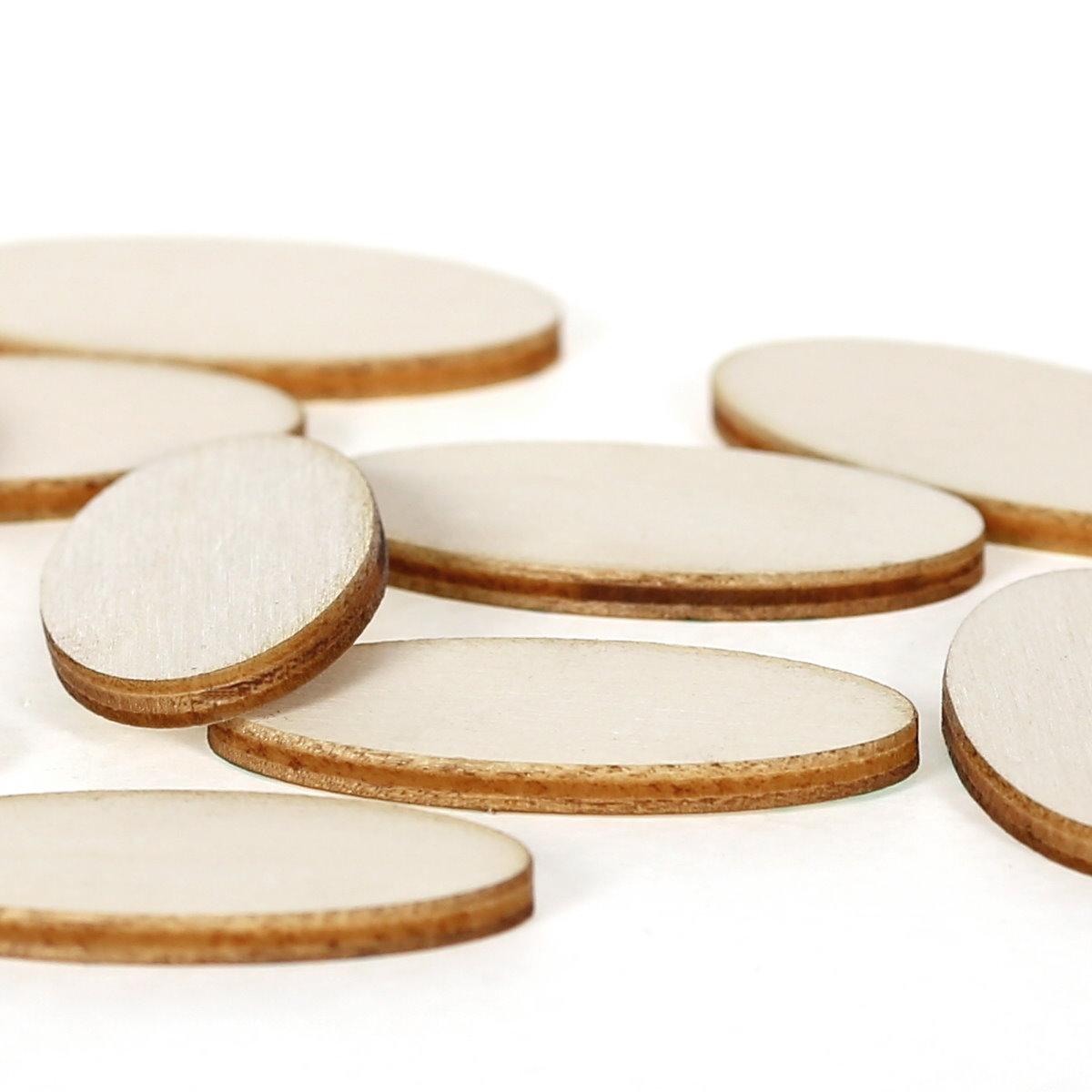 60x30cm Streudeko Basteln Deko Tischde Ovale Holzscheiben Holz Platten 2x1cm