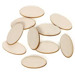 Ovale Holzscheiben Holz Platten - 2x1cm - 60x30cm Streudeko Basteln Deko Tischdeko – Bild 1