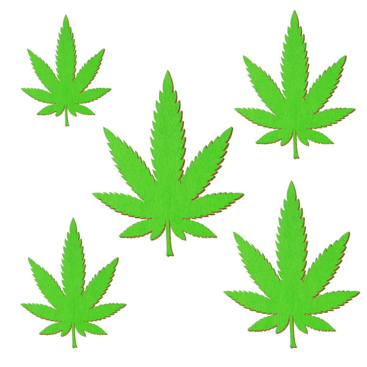 Hellgrüne Holz Kleeblätter Deko Zuschnitte Größenauswahl