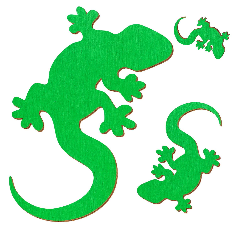 Basteln Gecko aus Sperrholz// Eidechse Dekoration