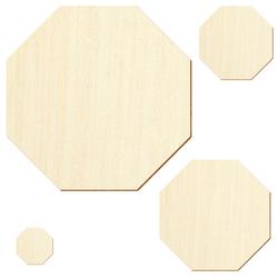 Holz Achteck Oktagon Holzscheiben - 1-60cm Streudeko Basteln Deko Tischdeko – Bild 2