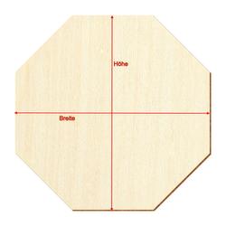 Holz Achteck Oktagon Holzscheiben - 1-60cm Streudeko Basteln Deko Tischdeko – Bild 3