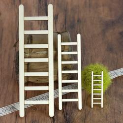 Holz Leiter Dekoleiter - 3-50cm Höhe - Basteln Deko Tischdeko – Bild 1