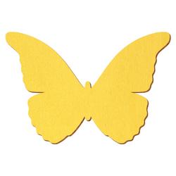 Gelber Holz Schmetterling - 3-50cm Flügelspannweite Streudeko Basteln Deko Tischdeko – Bild 1