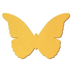 Goldener Holz Schmetterling - 3-50cm Flügelspannweite Streudeko Basteln Deko Tischdeko – Bild 1
