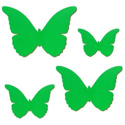 Grüner Holz Schmetterling - 3-50cm Flügelspannweite Streudeko Basteln Deko Tischdeko – Bild 2
