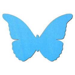 Hellblauer Holz Schmetterling - 3-50cm Flügelspannweite Streudeko Basteln Deko Tischdeko – Bild 1