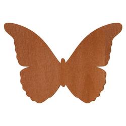 Palisanderfarbener Holz Schmetterling - 3-50cm Flügelspannweite Streudeko Basteln Deko Tischdeko – Bild 1
