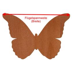Palisanderfarbener Holz Schmetterling - 3-50cm Flügelspannweite Streudeko Basteln Deko Tischdeko – Bild 3