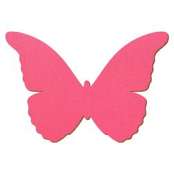 Pinker Holz Schmetterling - 3-50cm Flügelspannweite Streudeko Basteln Deko Tischdeko – Bild 1