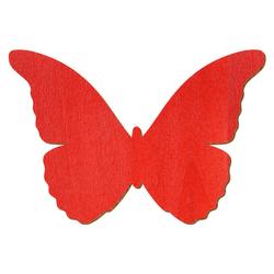 Roter Holz Schmetterling - 3-50cm Flügelspannweite Streudeko Basteln Deko Tischdeko – Bild 1