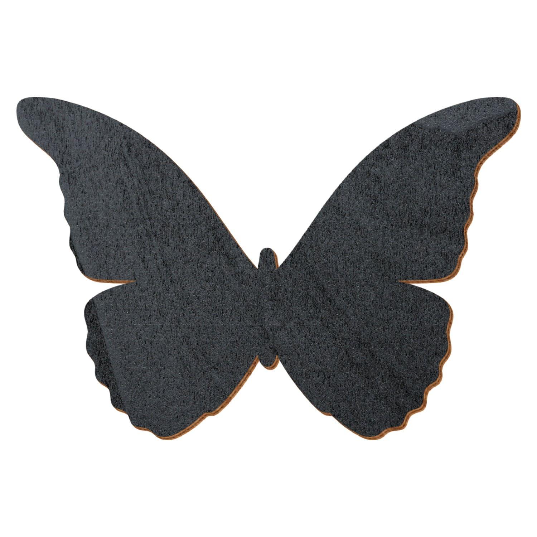 Schwarzer Holz Schmetterling - Deko Zuschnitte Größenauswahl