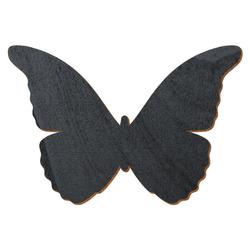 Schwarzer Holz Schmetterling - 3-50cm Flügelspannweite Streudeko Basteln Deko Tischdeko – Bild 1