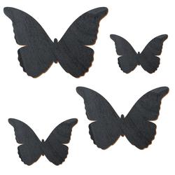 Schwarzer Holz Schmetterling - 3-50cm Flügelspannweite Streudeko Basteln Deko Tischdeko – Bild 2