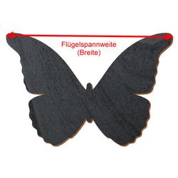 Schwarzer Holz Schmetterling - 3-50cm Flügelspannweite Streudeko Basteln Deko Tischdeko – Bild 3
