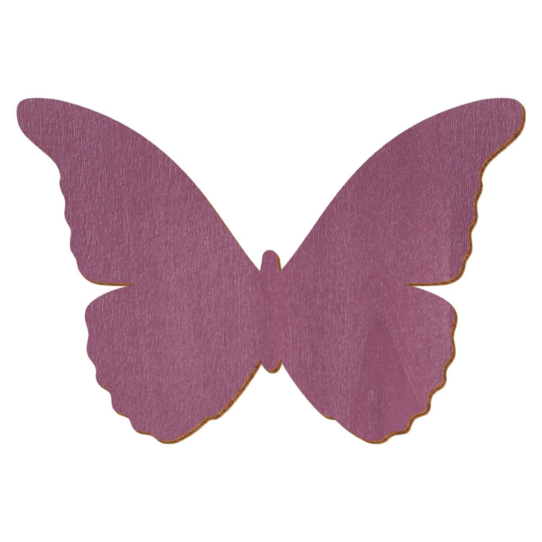 Violetter Holz Schmetterling - Deko Zuschnitte Größenauswahl