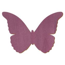 Violetter Holz Schmetterling - 3-50cm Flügelspannweite Streudeko Basteln Deko Tischdeko – Bild 1