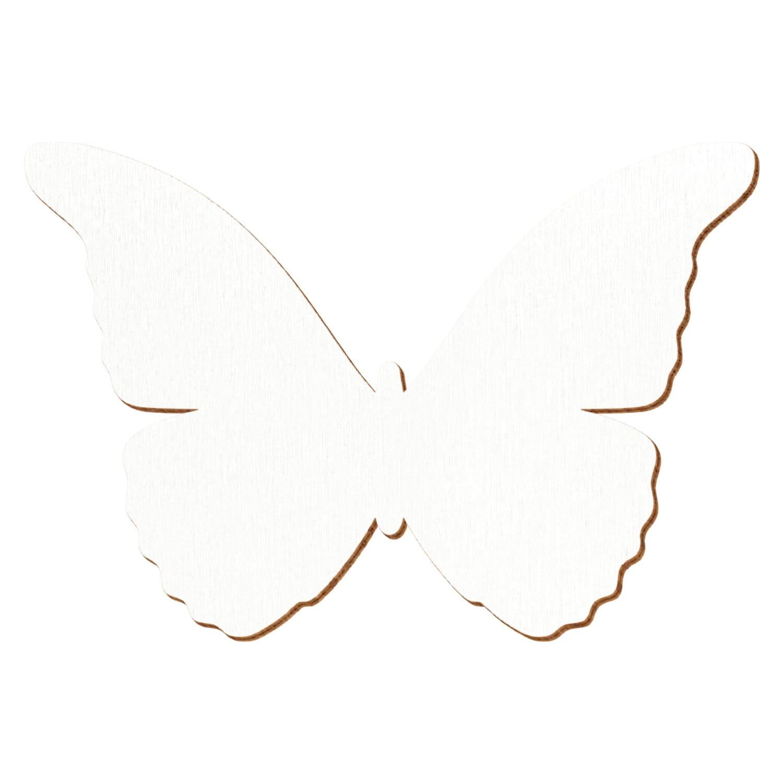 Weißer Holz Schmetterling - Deko Zuschnitte Größenauswahl