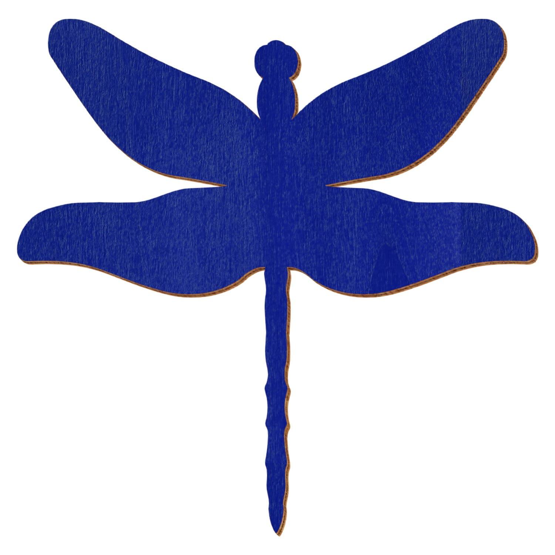 Blaue Holz Libelle - Deko Zuschnitte 3-50cm