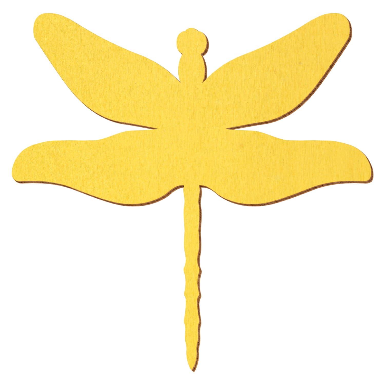Gelbe Holz Libelle - Deko Zuschnitte 3-50cm