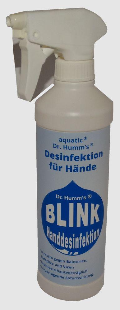 Blink Handdesinfektion 500 ml Dr. Humms Händedesinfektion Desinfektionsmittel  001