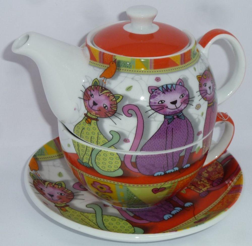 Tea for one Katze Evi Teeservice 3-teilig 001