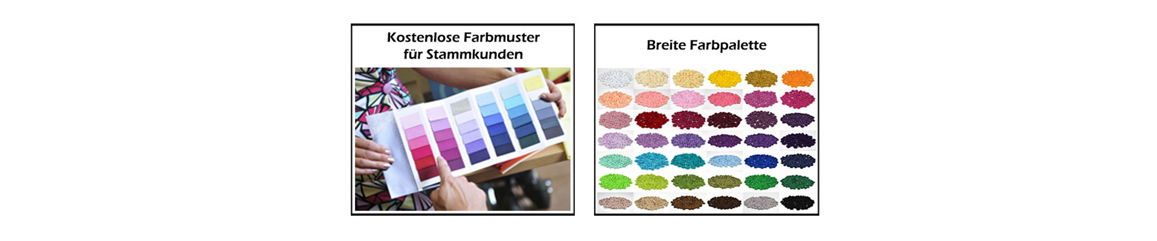 Slider Breite Farbpalette