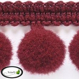 Zierborte mit Pompons 18mm breit (PA-18) – Bild 14