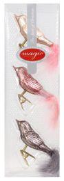 3 Weihnachtskugeln GLAS 8cm Vögel – Bild 18