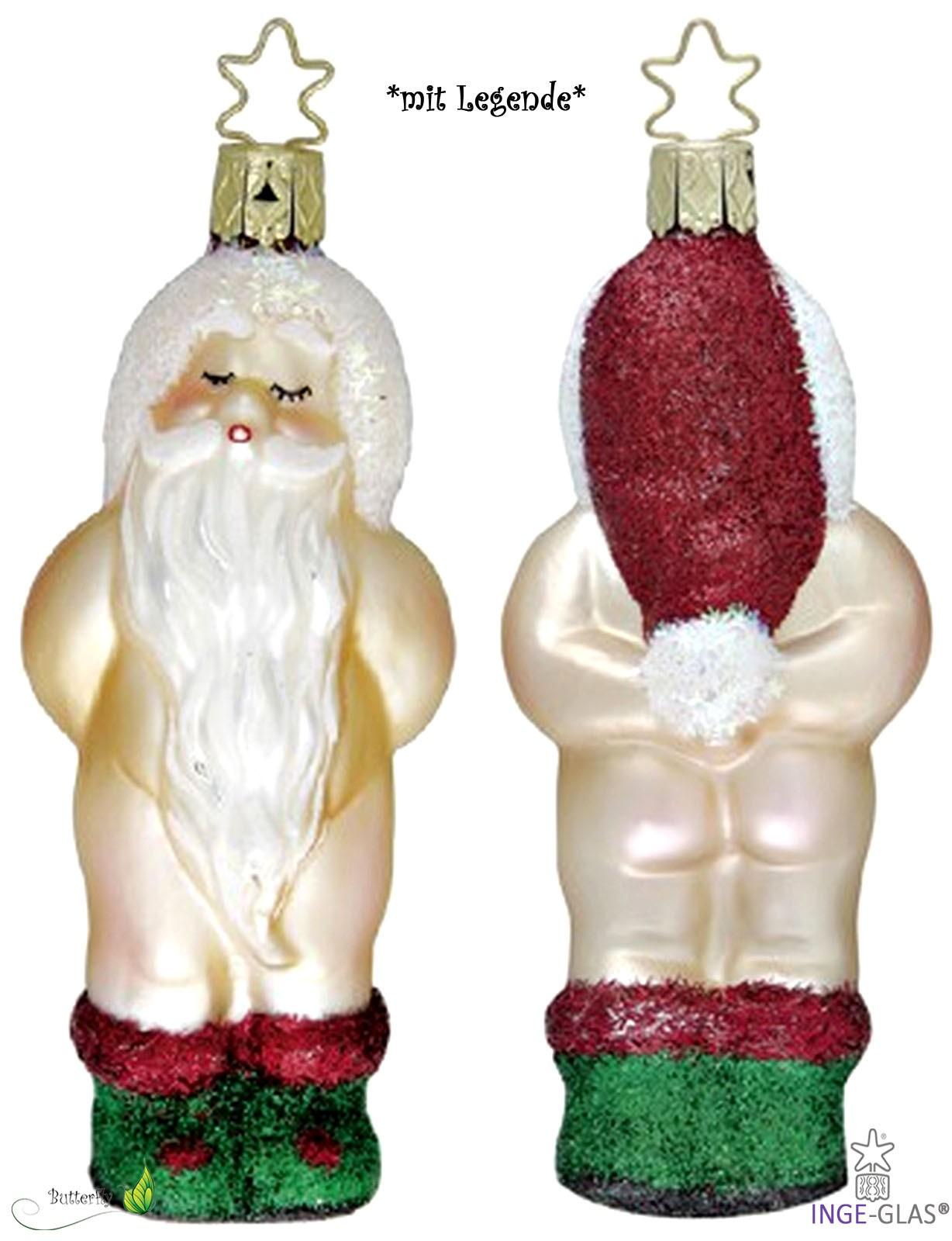Lustige Weihnachtskugeln.Lustige Figuren Inge Glas Mit Sternkrönchen