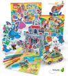3D Puzzle zum selbst Ausmalen, Set 2 Karten + 6 Filzstiften 001
