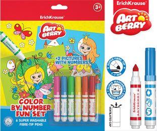 6 Kindermarker + 2 Malvorlagen Set, Färbung, Bemalung – Bild 3