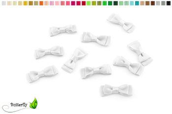 10 Stück Satinschleifen 3,5x1,3cm (einfarbig) – Bild 2