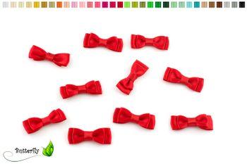 10 Stück Satinschleifen 3,5x1,3cm (einfarbig) – Bild 11