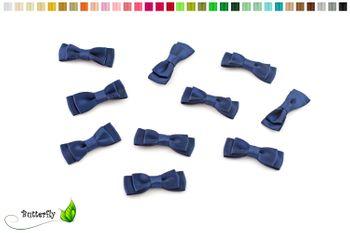 10 Stück Satinschleifen 3,5x1,3cm (einfarbig) – Bild 17