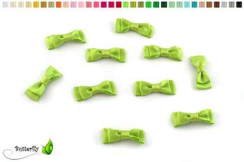 10 Stück Satinschleifen 3,5x1,3cm (einfarbig) – Bild 13