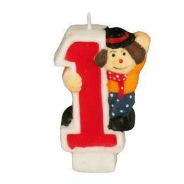 Zahlenkerze 8 cm Kinder-Geburtstag – Bild 3