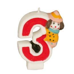Zahlenkerze 8 cm Kinder-Geburtstag – Bild 5