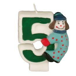 Zahlenkerze 8 cm Kinder-Geburtstag – Bild 7