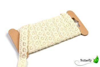 3m Spitzenborte 15mm, 100% Baumwolle – Bild 3