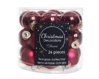 24 Mini - Weihnachtskugeln GLAS 25mm – Bild 24
