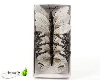 6 Schmetterlinge 10cm am Drahtstiel – Bild 2